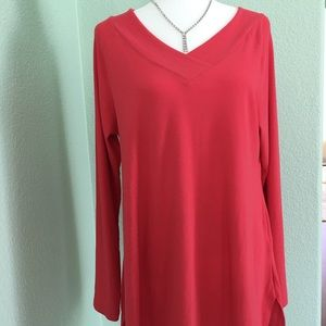 Soft Surroundings Tunic Top Long sleeves Size L